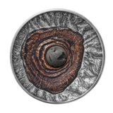 Вулкан Везувий (Помпеи) — Ниуэ — 2015 — серебряная монета с вулканической лавой