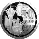 20 лет независимости Казахстана, Казахстан, 5000 тенге — серебряная монета с позолотой (1 кг)
