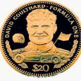 Формула-1: Дэвид Култхард — Либерия — 1992 — золотая монета