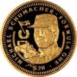 Формула-1: Михаэль Шумахер — Либерия — 1992 — золотая монета