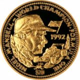 Формула-1: Найджел Мэнселл — Либерия — 1992 — золотая монета