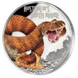 Опасные животные — Смертельная змея — 2016 — Тувалу — серебряная монета