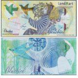 Bluebird (птица) — Казахстан — 2013 — тестовая банкнота