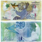 Bluebird (бабочка) — Казахстан — 2013 — тестовая банкнота