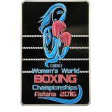 Чемпионат мира по боксу среди женщин 2016 Астана, Казахстан, 100 тенге — серебряная монета
