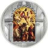 Шедевры мирового искусства — Воскресение Иисуса (Тинторетто) — 2016 — Острова Кука — серебряная монета  (ПРЕМИУМ)
