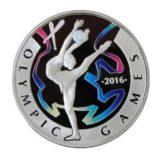 Художественная гимнастика, Казахстан, 100 тенге — серебряная монета