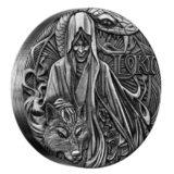 Боги Скандинавии — Локи — Тувалу — 2016 — серебряная монета с высоким рельефом без гурта