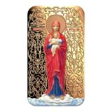 Православные святыни (иконы) — Валаамская Икона Божьей Матери  — Ниуэ — 2015 — позолоченная монета
