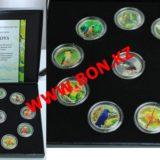 Попугаи всего мира — Гондурас — набор из 10 монет