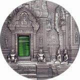 Искусство Тиффани (Tiffany Art) 2019 Ангкор — храм кхмеров — Палау — серебряная монета с Тиффани